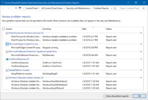 In einem Fehler-Report listet Windows 10 auf, welche Diagnosedaten an Microsoft übermittelt wurden. (Bild: Microsoft)