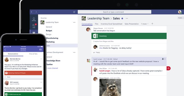 Microsoft Teams ist jetzt im Freemium-Modell auch als Gratisversion verfügbar, allerdings müssen Anwender einige Einschränkungen hinnehmen. (Bild: Microsoft)