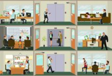 Menschen arbeiten unterscheidlich im Büro