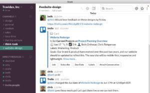Slack kann inzwischen rund 1.500 andere Anwendungen in seinen Chat integrieren, darunter Trello. (Bild: Trello)