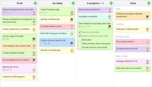 KanbanFlow bildet agile Kanban-Boards ab und erfasst die Arbeitszeit nach der Pomodoro-Technik. (Foto: KanbanFlow)