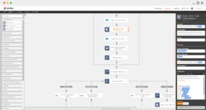 Workflows werden über eine grafische Benutzeroberfläche entworfen. (Bild: Nintex)