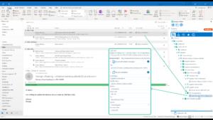 Die ecspand tidebar kann ebenso wie harmon.ie E-Mail und Anhänge mit Metadaten versehen, über die sie leichter wieder auffindbar sind. (Bild: d.velop)