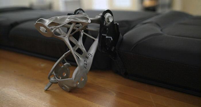 Sitzgurthalterung, entwickelt mithilfe von KI. (Foto: GM)
