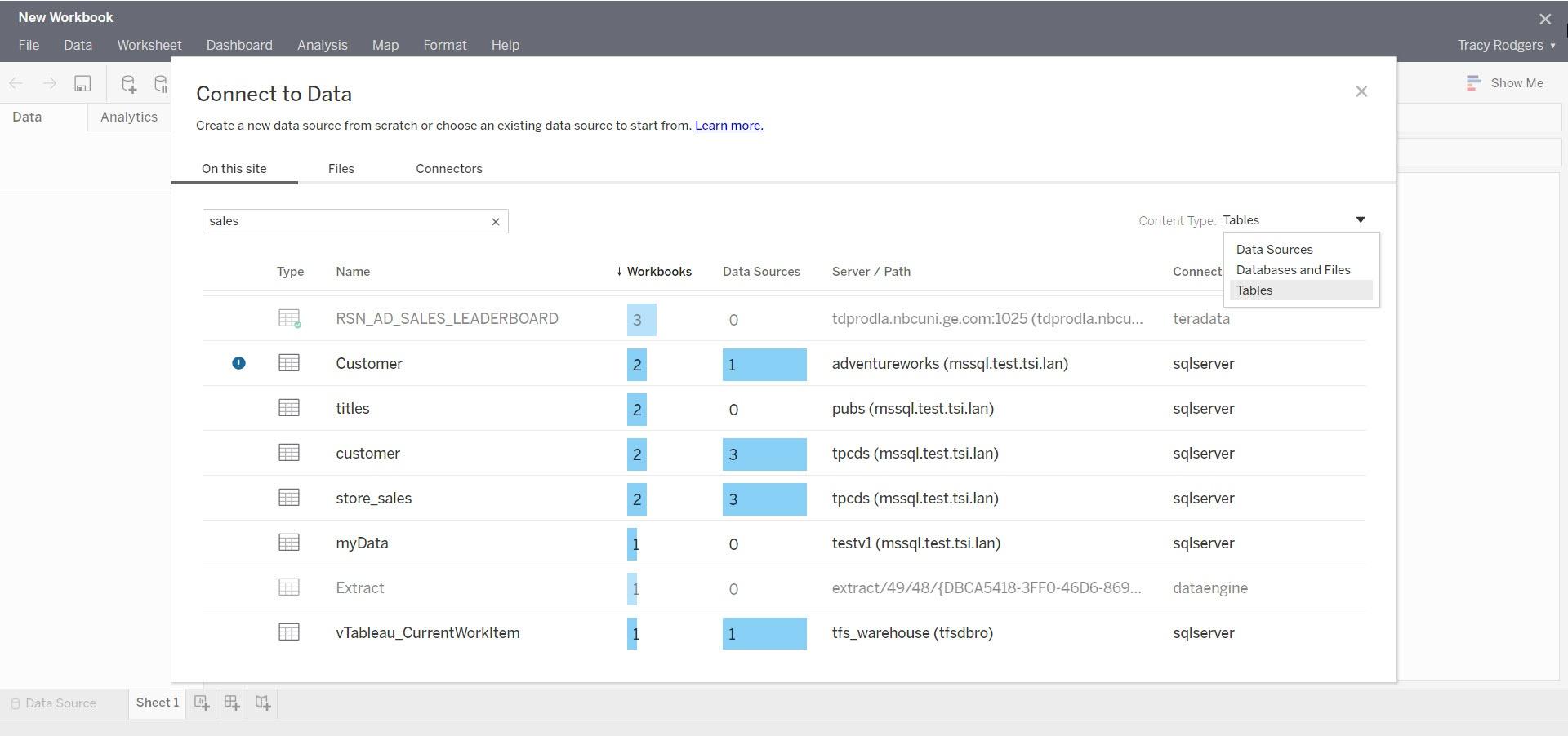 Tableau Catalog hilft Anwendern Datenquellen einfacher finden und verstehen, was die Daten darstellen. (Quelle: Tableau)