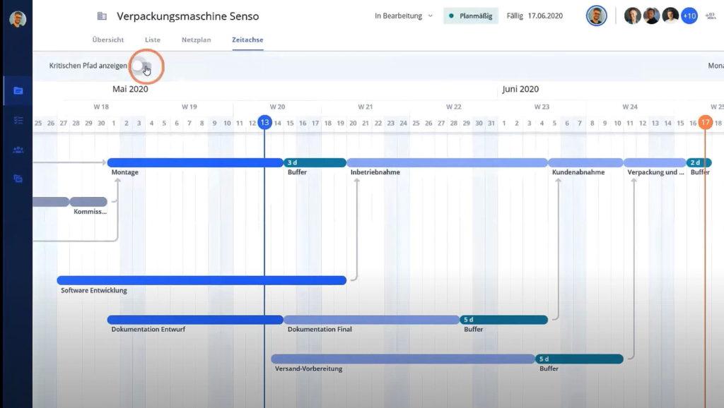 Allex unterstützt Vorwärts- und Rückwertsterminierung, Zeitangaben können einfach geändert werden.