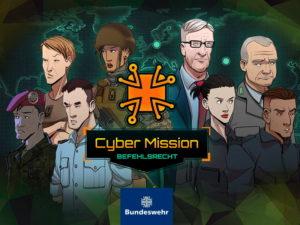"""Mit dem Serious Game """"Cyber Mission"""" können angehende Offiziere der Bundeswehr ihr Wissen im Bereich Befehlsrecht testen und verbessern.(Quelle: Gamify Now!)"""