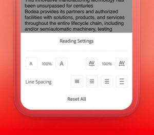 Mit Liquid Mode kann der Nutzer den Inhalt nach seinem eigenen Geschmack formatieren. (Bild: Adobe)